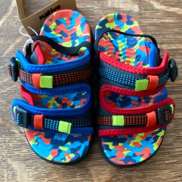 Native David repurposed sandals size C9.